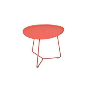 Table basse cocotte en aluminium coloris capucine de 44 x 55 x 43 cm 417818