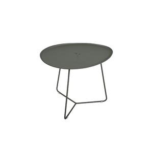 Table basse cocotte coloris gris romarin 44 x 55 x 43 cm 417820