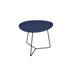 Table basse cocotte en aluminium coloris bleu abysse de 44 x 55 x 43 cm 417823