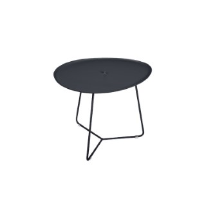 Table basse cocotte en aluminium coloris carbone de 44 x 55 x 43 cm 417826