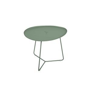 Table basse cocotte en aluminium coloris cactus de 44 x 55 x 37 cm 417827