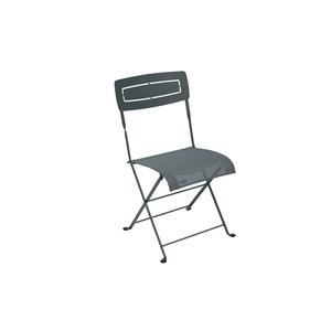 Chaise pliante SLIM acier Gris orage 417847