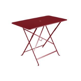 Table pliante bistro en acier coloris piment de 95 x 57 x 74 cm 418023