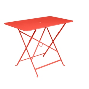 Table pliante bistro en acier coloris capucine de 95 x 57 x 74 cm 418032