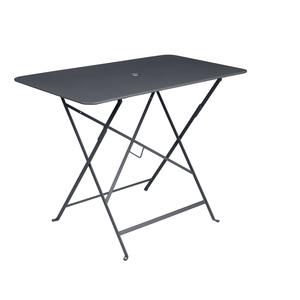 Table pliante bistro en acier coloris carbone de 95 x 57 x 74 cm 418033