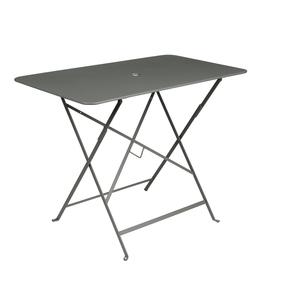 Table pliante bistro en acier coloris romarin de 95 x 57 x 74 cm 418035