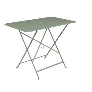 Table pliante bistro en acier coloris cactus de 95 x 57 x 74 cm 418036