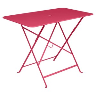 Table pliante bistro en acier coloris rose praline de 95 x 57 x 74 cm 418038