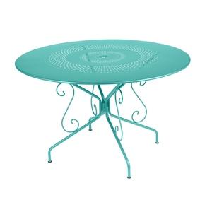 Table Montmartre Fermob en acier coloris bleu lagune Ø 117 cm 418042