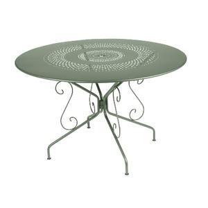 Table Montmartre Fermob en acier coloris cactus Ø 117 cm 418044