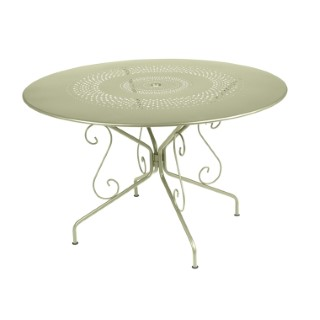 Table Montmartre Fermob en acier coloris tilleul Ø 117 cm 418049