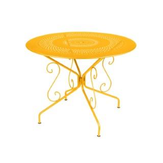 Table Montmartre Fermob en acier coloris miel Ø 96 cm 418052