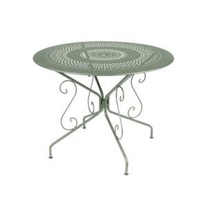 Table Montmartre Fermob en acier coloris cactus Ø 96 cm 418056