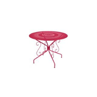 Table Montmartre Fermob en acier coloris rose praline Ø 96 cm 418057