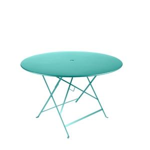 Table de jardin ronde pliante Bistro FERMOB bleu lagune 117 x 74 cm 418075
