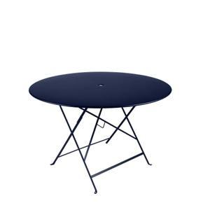 Table de jardin ronde pliante Bistro FERMOB bleu abysse 117 x 74 cm 418078