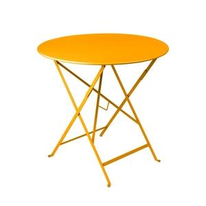 Table de jardin ronde pliante Bistro FERMOB miel 77 x h 74 cm 418184
