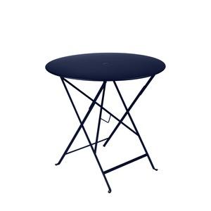 Table de jardin ronde pliante Bistro FERMOB bleu abysse 77 x h 74 cm 418187