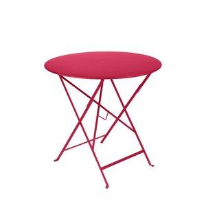 Table pliante ronde bistro en acier coloris rose Ø 77 H 74 cm 418188