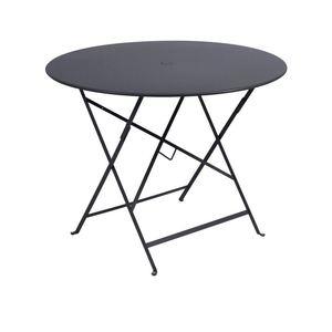 Table de jardin ronde pliante Bistro FERMOB carbone 96 x h 74 cm 418201