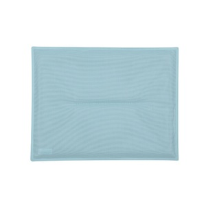 Coussin bistro Fermob coloris bleu lagune en TTE 28 x 38 cm 418208