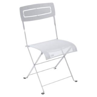 Chaise pliante slim blanche de 50 x 47 x 88 cm 418219