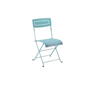 Chaise pliante slim bleue de 50 x 47 x 88 cm 418221
