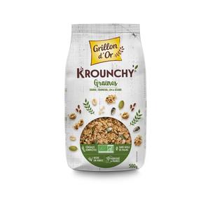 Krounchy graines de céréales bio en sachet de 500 g 418255
