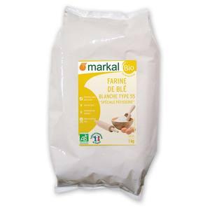 Farine de blé blanche pâtissière T55 bio en sac de 1 kg 418303