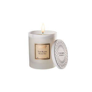 Bougie parfumée blanche 180 g parfum Thé blanc 418425