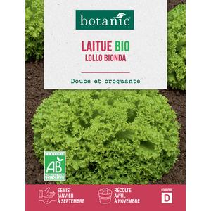Graines de Laitue Lollo Bionda bio en sachet 419335