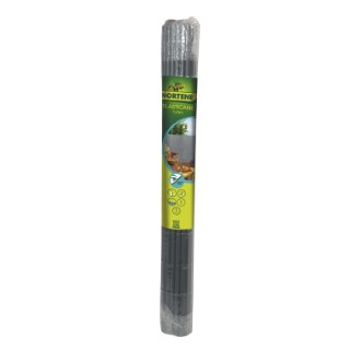 Canisse Plasticane gris simple face PVC 17 mm 300x100 cm 419693
