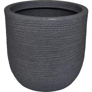 Pot rond Granit gris Ø 35 x 34 cm de 25 L 419876