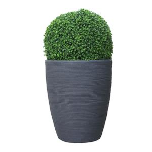 Pot rond haut Granit gris Ø 37 x 44 cm de 35 L 419879