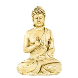 Bouddha hindou MM béton coulé ton vieilli gris H40,5 cm 419882