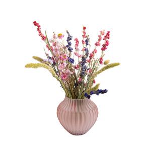 Vase rose mat en verre 17x17 cm 420483