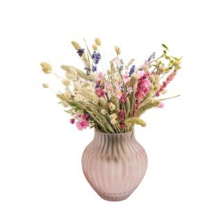 Vase rose mat en verre 20x12 cm 420484