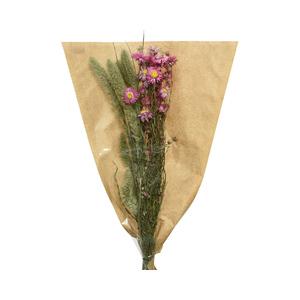 Bouquet fleurs séchées naturelles rose 420973
