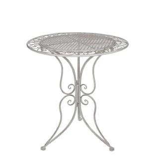 Table Provence blanche en métal Ø 60 x H 70 cm 421476
