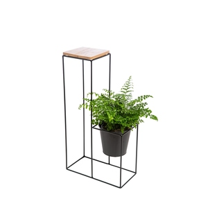 Porte plante caitlin grand modèle avec cache-pot 38 x 19 x 71 cm 422083