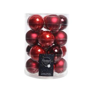 Boules Verre Mix rouge Ø6 cm 422381