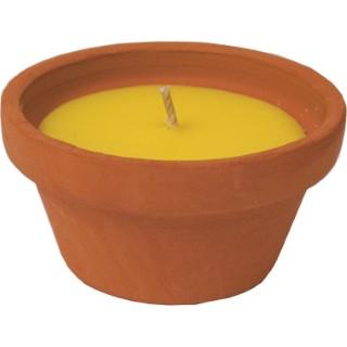 Bougie à la citronnelle dans un pot en terre cuite Campana 424392