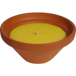 Bougie à la citronnelle dans bol terre cuite naturelle 55X120 424501