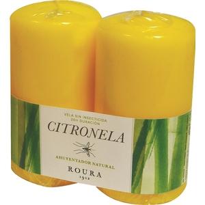 Pack de 2 bougies à la citronnelle 424536