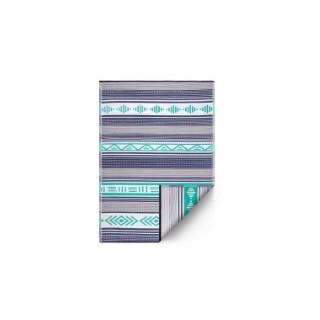 Tapis Ibiza bleu intérieur/extérieur - 90x150 cm 426698
