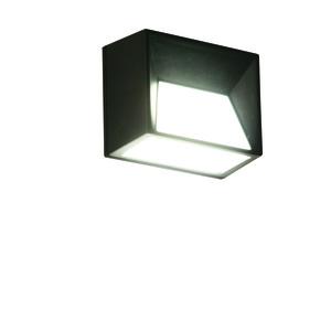 Applique solaire Skye en plastique noir à LED blanc chaud 10x6x8 cm 427351