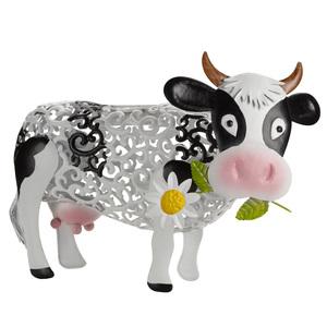 Vache solaire en métal Daisy Cow à LED blanc ou multicolore 427389