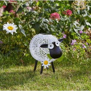 Mouton solaire en métal Dolly Sheep à LED blanc ou multicolore 427390