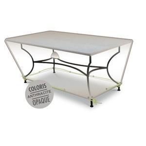 Housse table rectangulaire 6-8 pers. de coloris anthracite en polyester 427464