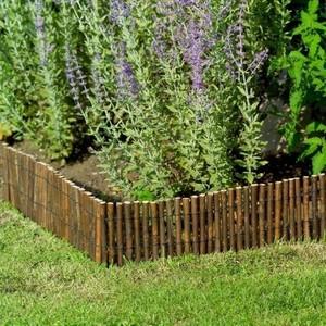 Bordure en bois de saule 2x0,30 m en rouleau : Bordures de jardin ...